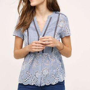 Anthropologie Holding Horses Eyelet Top 6